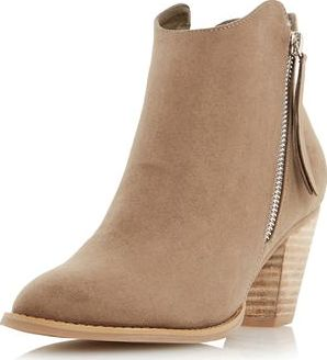 Dorothy Perkins, 1134[^]262015000707636 Womens Head Over Heels Patel Taupe Ankle Boots-