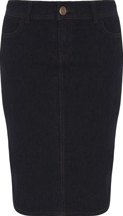 Dorothy Perkins, 1134[^]262015000712838 Womens Indigo Denim Pencil Skirt- Blue DP70345524