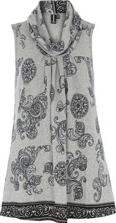 Dorothy Perkins, 1134[^]262015000706879 Womens Izabel London Multi Grey Long Tunic Top-