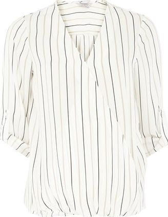 Dorothy Perkins, 1134[^]262015000705283 Womens Maternity Ivory Stripe Wrap Blouse- Ivory