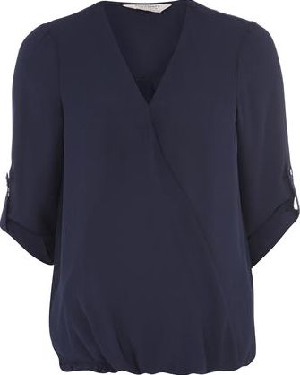 Dorothy Perkins, 1134[^]262015000705274 Womens Maternity Navy Wrap Blouse- Navy DP17305123