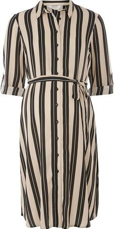 Dorothy Perkins, 1134[^]262015000705265 Womens Maternity Neutral Stripe Shirt- Neutral