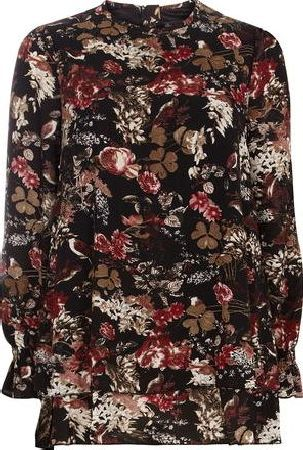 Dorothy Perkins, 1134[^]262015000707779 Womens Mela Black Bird Print Tunic- Black