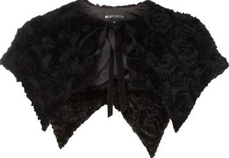 Dorothy Perkins, 1134[^]262015000707801 Womens Mela Black Fur Bolero- Black DP61140410