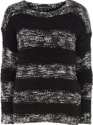 Dorothy Perkins, 1134[^]262015000706771 Womens Mela Black Stripe Jumper- Black DP61140401