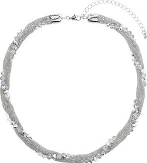 Dorothy Perkins, 1134[^]262015000715169 Womens Mesh Twist Bead Short Necklace- Clear