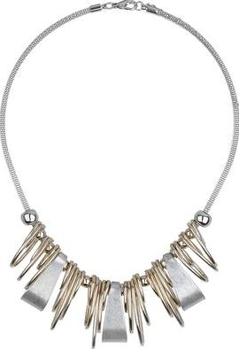 Dorothy Perkins, 1134[^]262015000709248 Womens Multi Oval Necklace- Silver DP49816216