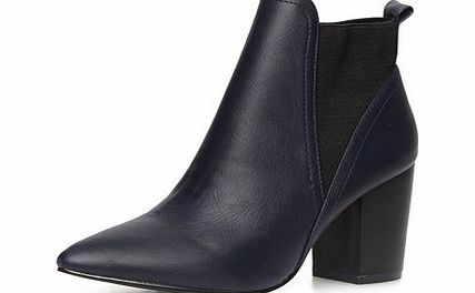 Dorothy Perkins Womens Navy pointed ankle boots- Navy DP22290723