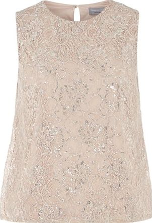 Dorothy Perkins, 1134[^]262015000706177 Womens Petite blush lurex lace top- Pink
