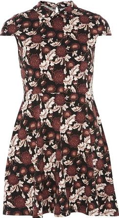 Dorothy Perkins, 1134[^]262015000705715 Womens Petite collar fit and flare dress-