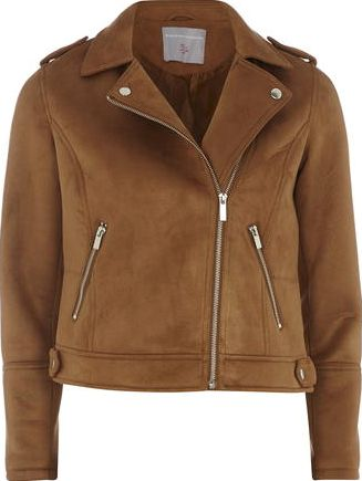 Dorothy Perkins, 1134[^]262015000705707 Womens Petite faux suedette jacket- Brown