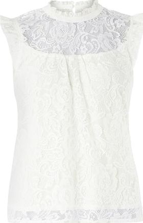 Dorothy Perkins, 1134[^]262015000712023 Womens Petite Ivory victoriana top- White