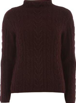 Dorothy Perkins, 1134[^]262015000705683 Womens Petite purple cable jumper- Purple