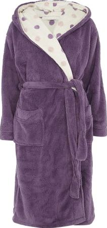 Dorothy Perkins, 1134[^]262015000710930 Womens Purple and Blush Spot Robe- Purple