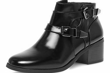 Dorothy Perkins Womens Ravel High shine ankle boots- Black