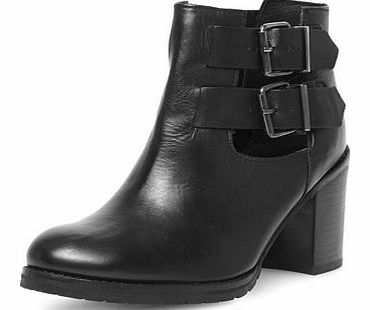 Dorothy Perkins Womens Ravel Mid heel ankle boots- Black