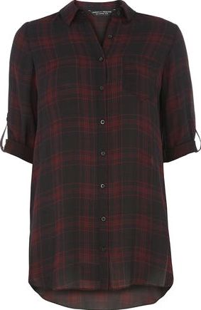 Dorothy Perkins, 1134[^]262015000709864 Womens Red And Black Check Shirt- Multi Colour