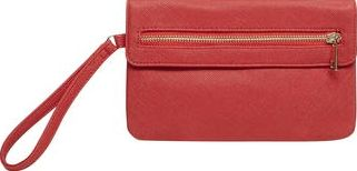 Dorothy Perkins, 1134[^]262015000714024 Womens Red foldover wristlet bag- Red DP18425012
