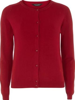 Dorothy Perkins, 1134[^]262015000713486 Womens Red Knitted Viscose Cardigan- Red