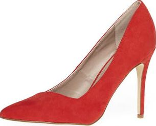 Dorothy Perkins, 1134[^]262015000710389 Womens Red Wink wide fit courts- Red DP35252700