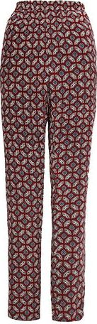 Dorothy Perkins, 1134[^]262015000706743 Womens Retro Print Casual Trousers- Wine