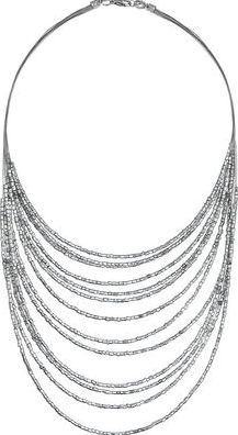 Dorothy Perkins, 1134[^]262015000715172 Womens Silver Bead Multirow Necklace- Silver