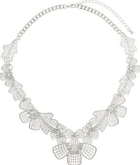 Dorothy Perkins, 1134[^]262015000709268 Womens Silver Lace Collar- Silver DP49816201