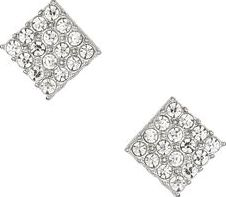 Dorothy Perkins, 1134[^]262015000715138 Womens Square Crystal Studs- Clear DP49816228