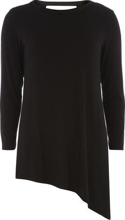 Dorothy Perkins, 1134[^]262015000706061 Womens Tall Black Asymmetric Top- Black DP05605610
