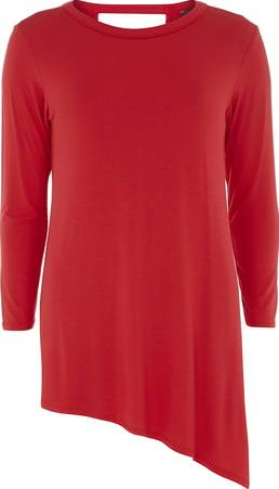 Dorothy Perkins, 1134[^]262015000706070 Womens Tall Red Asymmetric Top- Red DP05605626