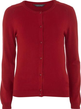 Dorothy Perkins, 1134[^]262015000713495 Womens Tall Red Knitted Viscose Cardi- Red