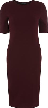 Dorothy Perkins, 1134[^]262015000711137 Womens Tall wine textured bodycon dress- Red