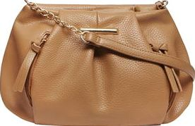 Dorothy Perkins, 1134[^]262015000714037 Womens Tan soft zip pouch crossbody bag- Brown