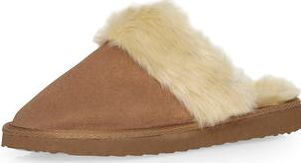 Dorothy Perkins, 1134[^]262015000712054 Womens Tan suede leather mule slippers- Tan