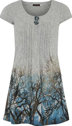 Dorothy Perkins, 1134[^]262015000717075 Womens Tenki Blue Tree Print Tunic- Blue