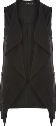 Dorothy Perkins, 1134[^]262015000710567 Womens Waterfall Sleeveless Jacket- Black