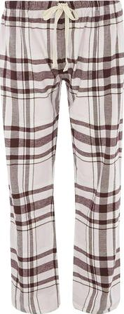 Dorothy Perkins, 1134[^]262015000708680 Womens Wine Check Pyjama Pants- Red DP33103712