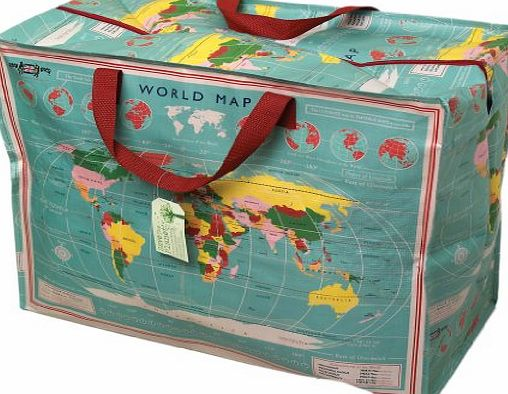 dotcomgiftshop The Original Jumbo Storage Bag - World Map