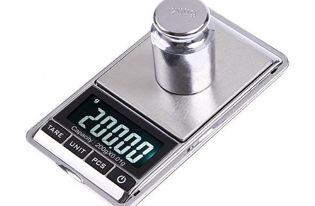 douself 200g*0.01g LCD Display Mini Digital Weight Pocket Scale Jewelry Gram Oz Ct product image