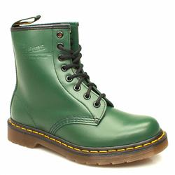 Female 8 Tie Boot Ii Leather Upper Alternative in Green, Yellow