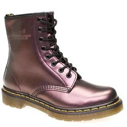 Female 8 Tie Boot Leather Upper Alternative in Purple