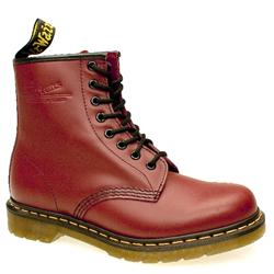 Female 8 Tie Boot Leather Upper Alternative in Red