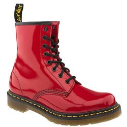 Female 8 Tie Boot Patent Upper Alternative in Red
