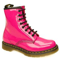 Female 8 Tie Patent Boot Patent Upper Alternative in Pink