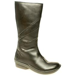Female Athena Neema Boot Leather Upper Alternative in Black, Dark Brown
