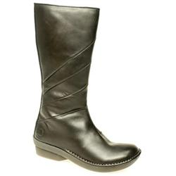 Female Athena Neema Boot Leather Upper Casual in Black