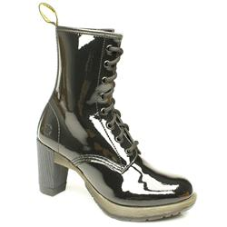 Female Diva Darcie Boot Patent Upper Alternative in Black