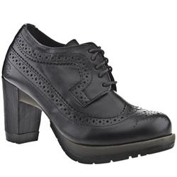 Black leather brogue style shoes - Dr martens diva ...