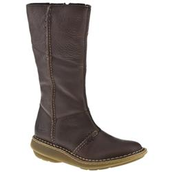 Female Dm 3a63 Boot Leather Upper Casual in Dark Brown