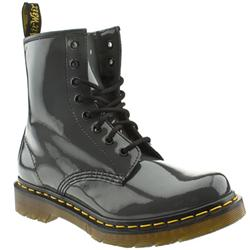 Female Dr Martens 1460 Patent Upper Casual in Grey